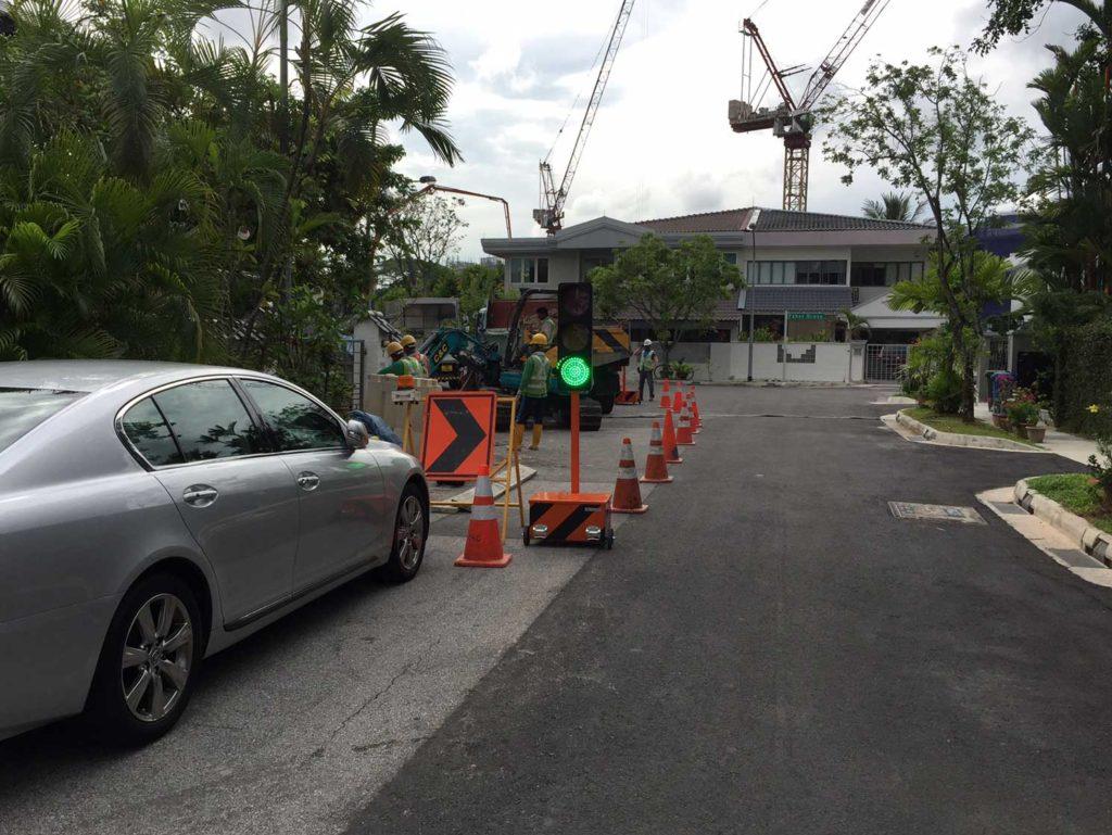 Sphere semafori na ulicama Singapura