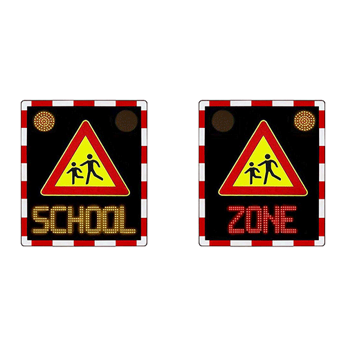 School Zone Variable Messaging Sign