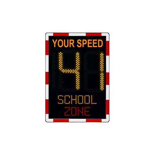 Speed Display Sign School Zone