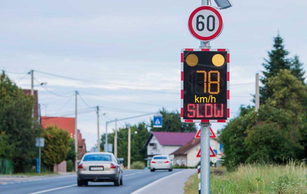 Radarski pokazivač mjerač brzine vozila