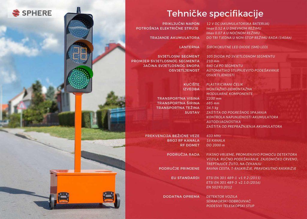 Sphere mobilni semafor specifikacije
