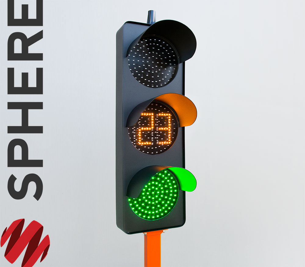 Portable Traffic Lights Signal Head with Countdown Timer and Radio Communication